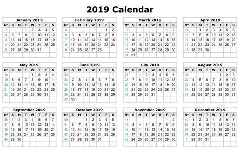 excel calendar  page