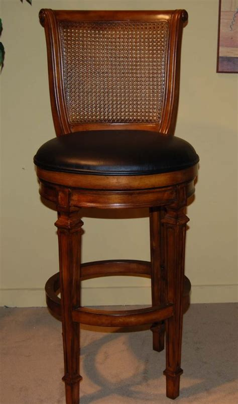 rattan bar stools with backs furniture alluring wood bar stools with back for 7628