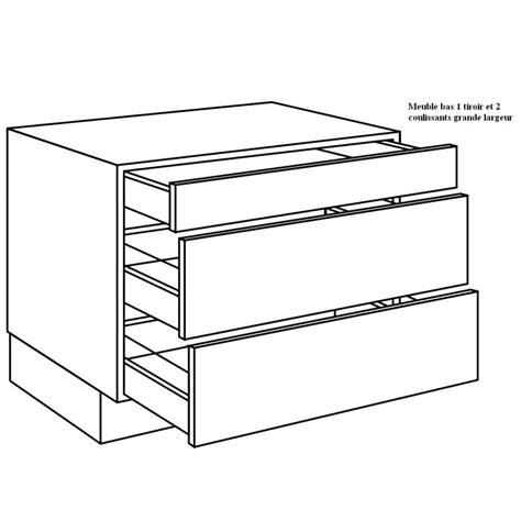 meuble cuisine avec tiroir meuble bas de cuisine avec grand tiroir idées de