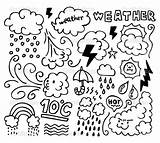 Weather Grunge Drawing Coloring Pages Hand Cold Icons Spring Printable Rain Windy Vector Winter Colouring Sheets Drawings Kindergarten Getcolorings sketch template