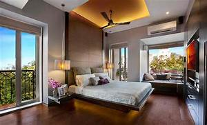 15 Dark Wood Flooring In Modern Bedroom Designs