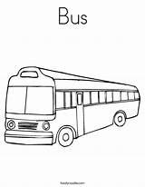 Coloring Bus Autobus sketch template