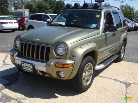 2003 green jeep liberty 2003 cactus green pearl jeep liberty renegade 4x4