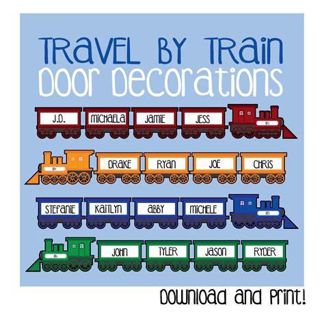 train car door decoration printable travel
