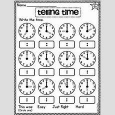 First Grade Math Unit 15 Telling Time  Summer, Digital