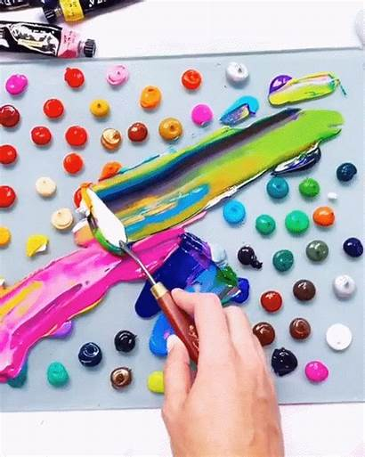 Acrylic Painting Paint Satisfying Abstract Artist Arteza