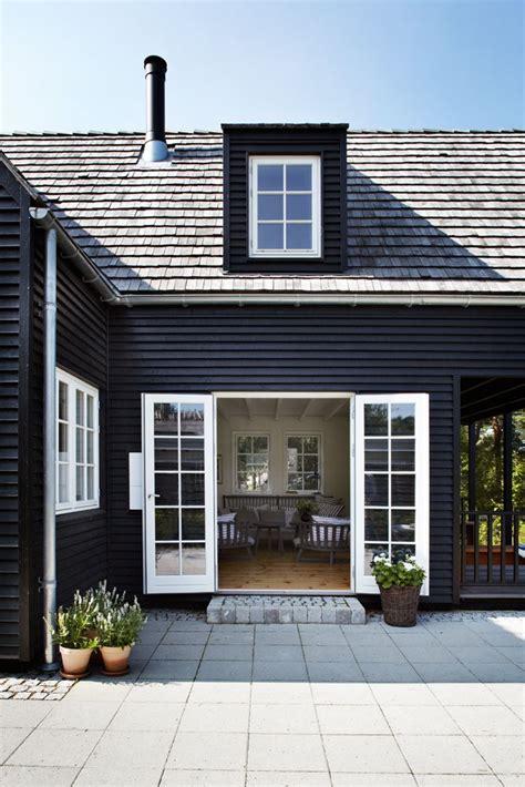 black exterior exteriors white trim doors and patio