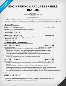 engineering graduate resume sample resumecompanioncom With engineering examples