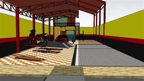 3d bangunan hidrolik cuci motor dan hidrolik cuci mobil youtube