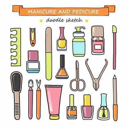 Manicure Pedicure Doodle Manicura Premium Pedicura Equipos