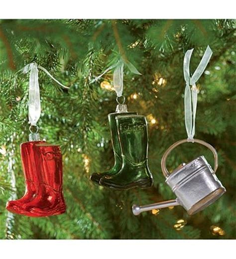garden themed christmas ornaments gardening ornaments tree ideas net