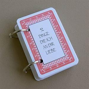 Geschenk Selber Basteln : 52 dinge die ich an dir liebe karten kartenspiel valentinstag geschenk selber basteln diy ~ Watch28wear.com Haus und Dekorationen