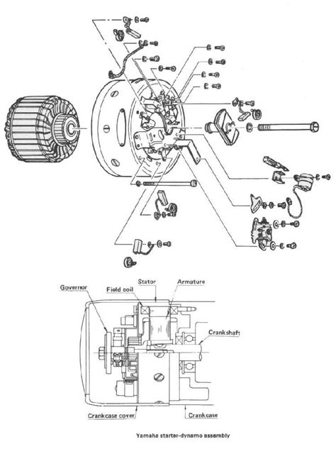 Yamaha At1 Wiring Diagram by Dan S Motorcycle Generator Electric Starter Dynamo