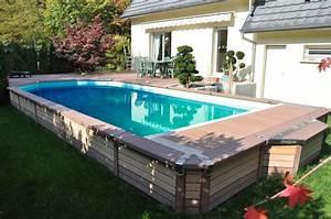 Piscine Semi Enterré Bois : piscine semi enterre ~ Premium-room.com Idées de Décoration