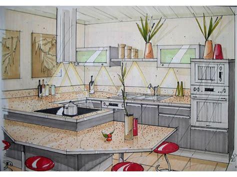 perspective cuisine amenagement d une cuisine du0027une cuisine est