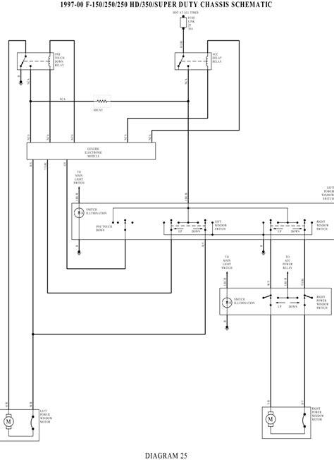 1992 ford f150 power window switch wire harness 47