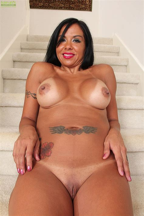 Sexy Milf Marisa Mendes Teases On The Stairs Milf Fox