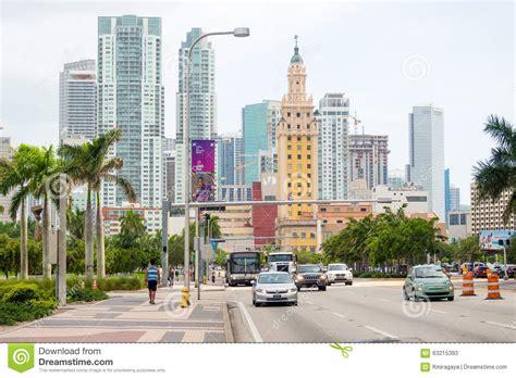 usa tile biscayne blvd biscayne boulevard in miami with several city landmarks