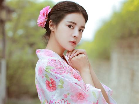 Japanese kimono beauty photo poster wallpaper 06 Preview ...