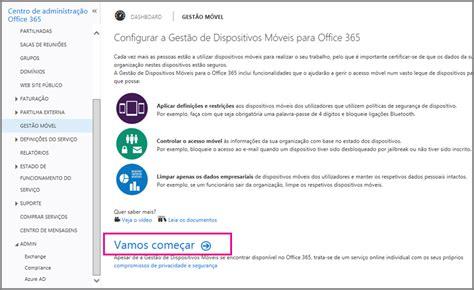 si鑒e de microsoft definir o gestão de dispositivos de móveis mdm no office 365 office 365