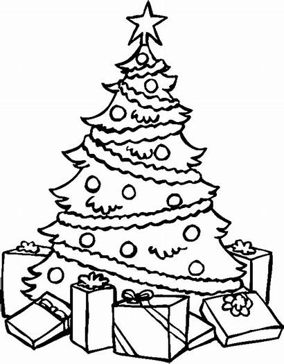 Coloring Tree Christmas Pages Desktop Backgrounds