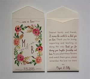 sow in love wedding favor seed packet envelopes custom seed With wedding favor seed packets