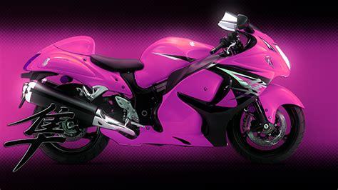 Hd Pink Hayabusa Motorcycle Wallpaper