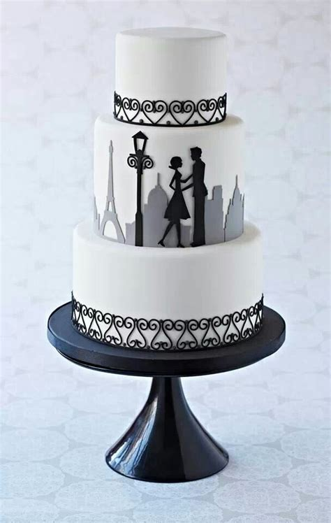 paris silhouette couple cake cakes cakes cupcakes cake cake decorating cupcake cakes