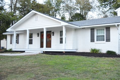 adding front porch to brick house adding a front porch to a brick ranch beneath my heart