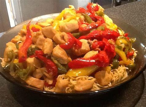 cuisine wok poulet wok asiatique poivrons poulet en cuisine avec natacha