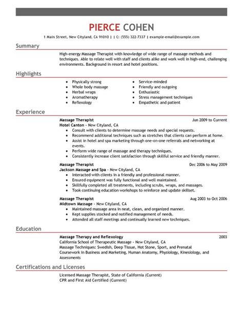 unforgettable therapist resume exles to stand