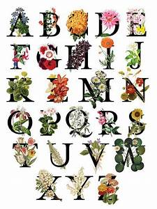 floral alphabet art print art pinterest floral With flower letters alphabet
