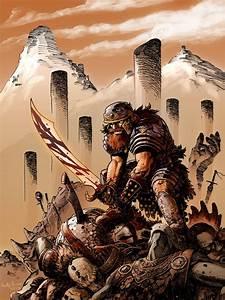 Warriors in art: Berserker by Reilly Brown
