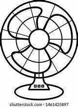 Fan Outline Coloring Icon Template Shutterstock sketch template