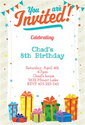 Birthday Invitation Templates : Birthday Invitation