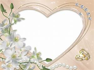 Heart Wedding Flower Transparent Frame | Gallery ...