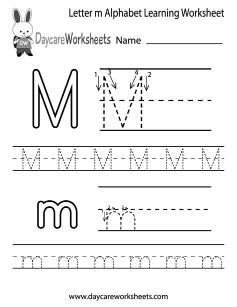 letter  alphabet learning worksheet  preschool
