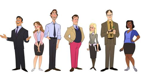 A Brilliant Artist Reimagined Characters From 'the Office' As Cartoons