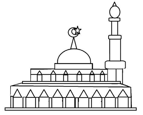Gambar Mewarnai Masjid Shefalitayal