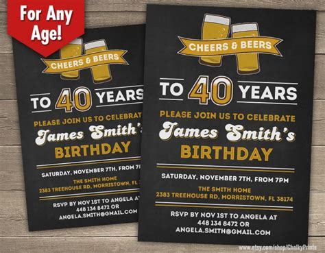 Template:40th Birthday Party Invitation Wording For Him