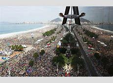 Three million faithful Catholics pack Rio's Copacabana