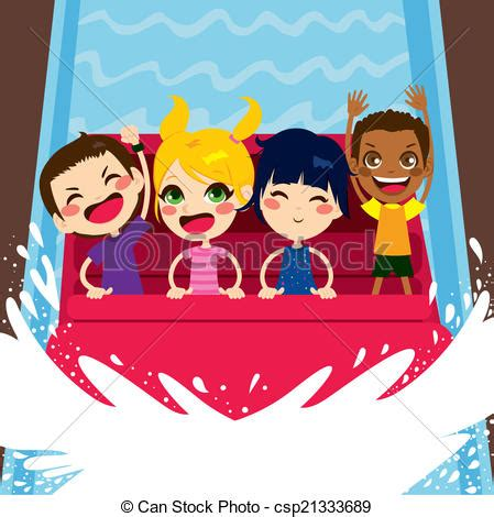Boat Ride Drawing by Vector Of Enjoying Water Boat Ride Four Happy