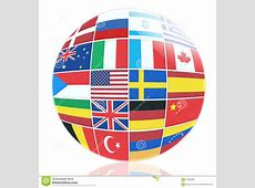 Many Flags Of Different Countries Stock Photo Image