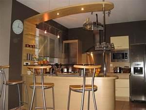 image gallery modele de cuisine americaine With deco cuisine avec chaise modele