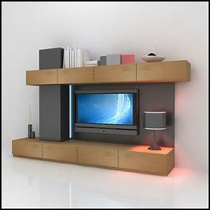 tv wall unit modern design x 06 3d models cgtradercom With images for tv wall units