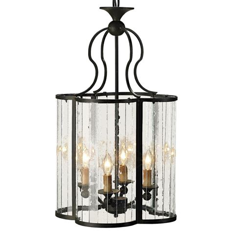 rudolpho wrought iron seeded glass clover leaf lantern
