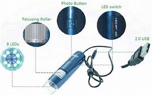 Digital Hair Microscope Scalp Detector Usb Wifi Charge