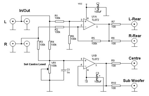 surround decoder electronic circuits tv schematics audio
