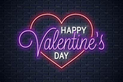Valentines Neon Sign Creative Market Card Templates