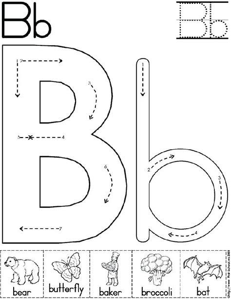 letter b activities find the letter b activity sheet